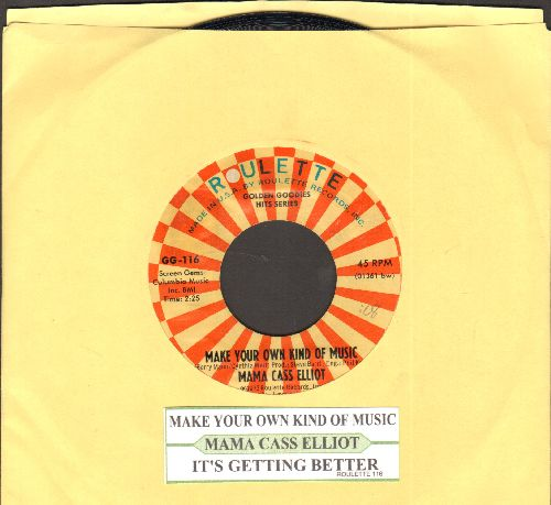 Mama Cass Elliot - Make Your Own Kind Of Music/It's Getting Better (double-hit reissue with juke box label, both songs featured in film -A Beautiful Thing-) - NM9/ - 45 rpm Records