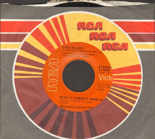 Elliot, Cass (Mama Cass) - That Song/When It Doesn't Work Out (with RCA company sleeve) - NM9/ - 45 rpm Records