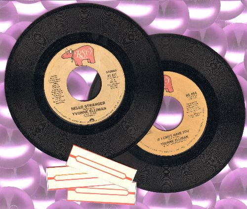 Elliman, Yvonne - 2 First pressing 45s for the price of 1: If I Can't Have You/Hello Stranger. Shipped in plain white paper sleeves with 3 blank juke box labels. - VG7/ - 45 rpm Records