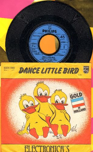 Electronica's - Dance Little Bird (Chicken Dance)/The Marching Tin Soldier (German Pressing with picture sleeve) - M10/EX8 - 45 rpm Records