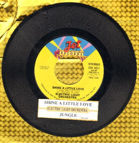 Electric Light Orchestra - Shine A Little Love/Jungle (with juke box label) - NM9/ - 45 rpm Records