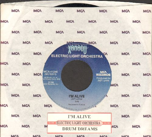 Electric Light Orchestra - I'm Alive/Drum Dreams (from film -Xanadu-) (with juke box label and MCA company sleeve) - EX8/ - 45 rpm Records