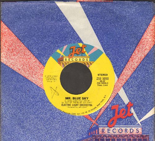 Electric Light Orchestra - Mr. Blue Sky/One Summer Dream (with RARE Jet company sleeve) - NM9/ - 45 rpm Records