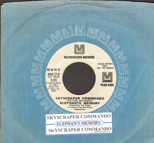 Elephant's Memory - Scyscraper Commando (double-A-sided DJ advance pressing with MONO and STEREO version, withjuke box label and Metromedia company sleeve) - NM9/ - 45 rpm Records