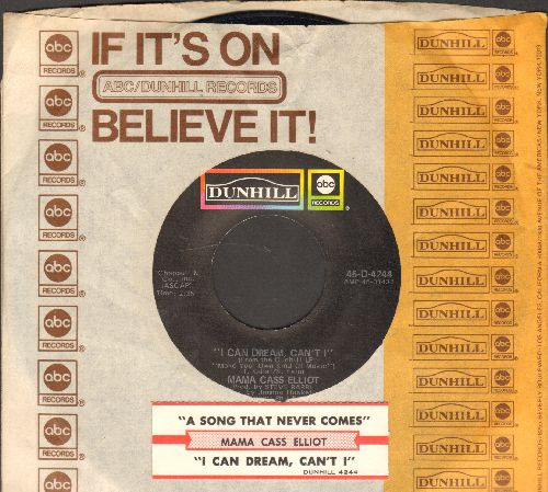 Mama Cass Elliot - A Song That Never Comes/I Can Dream, Can't I (with juke box label and original company sleeve) - M10/ - 45 rpm Records