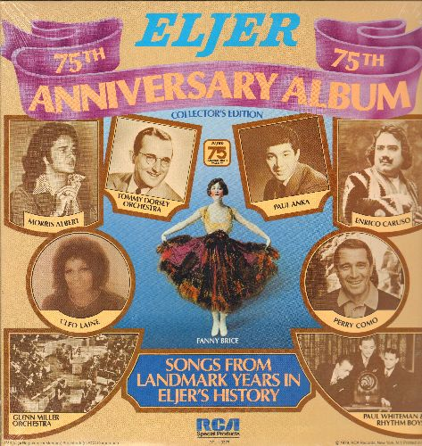 Dudley, S. H., Enrico Caruso, Paul Anka, others - ELJER 75th Anniversary Album - Radio Broadcasts spanning from 1904 to 1978, Take Me Out To The Ballgame to Feelings. (vinyl LP record, SEALED, never opened) - SEALED/SEALED - LP Records
