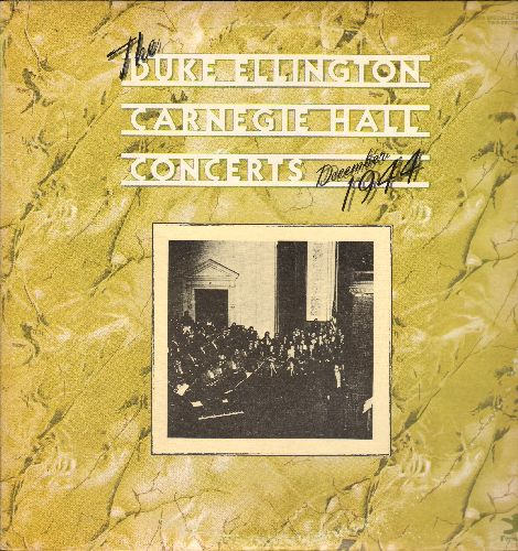 Ellington, Duke & His Orchestra - The Duke Ellington Carnegie Hall Concerts - December 1944 (2 vinyl LP records in gate-fold cover, 1977 re-issue of vintage Jazz recordings) - NM9/EX8 - LP Records