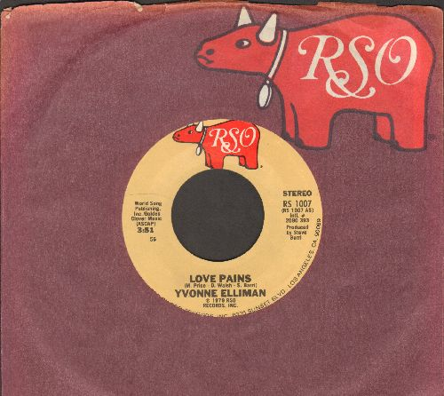 Elliman, Yvonne - Love Pains/Rock Me Slowly (with RSO company sleeve) - M10/ - 45 rpm Records
