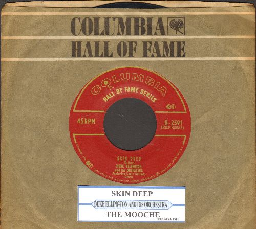 Ellington, Duke & His Orchestra - Skin Deep/The Mooche (double-hit early re-issue with juke box label and company sleeve) - EX8/ - 45 rpm Records