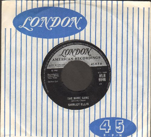 Ellis, Shirley - The Name Game (PARTY FAVORITE!)/Whisper To Me Wind (British Pressing with company sleeve) - M10/ - 45 rpm Records