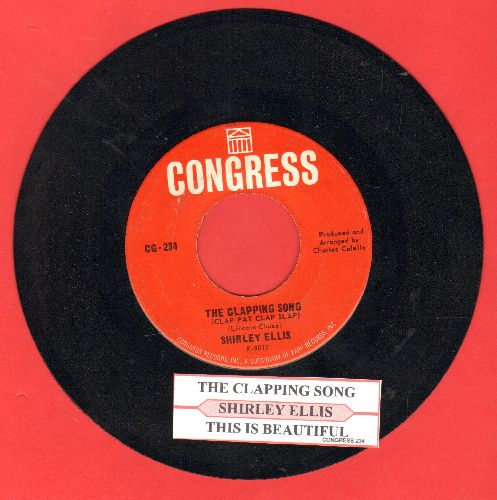 Ellis, Shirley - The Clapping Song (Clap Pat Clap Slap)/This Is Beautiful (with juke box label) - NM9/ - 45 rpm Records