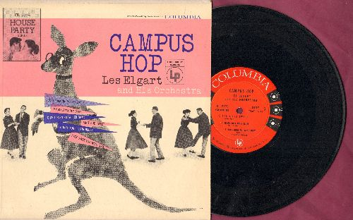 Elgart, Les & His Orchetsra - Campus Hop: Ain't She Sweet, My Melancholy Baby, Start Dancin' With A Smile + 3 (10 inch vinyl LP record with picture cover) - EX8/EX8 - LP Records