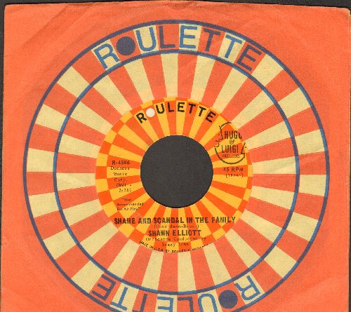 Elliot, Shawn - Shame And Scandal In The Family/My Girl (FANTASTIC Vintage Reggae 2-sider!) (with Roulette company sleeve)(ssol) - EX8/ - 45 rpm Records