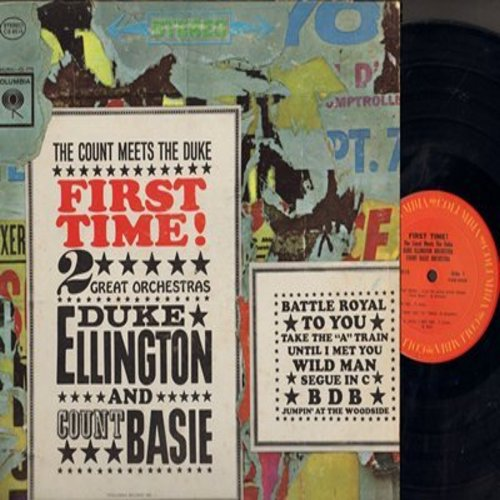 Ellington, Duke & Count Basie - The Count Meets The Duke - First Time 2 Great Orchestra: Battle Royal, Take The A Train, Jumpin' At The Woodside, Wild Man (Vinyl STEREO LP record) - M10/EX8 - LP Records
