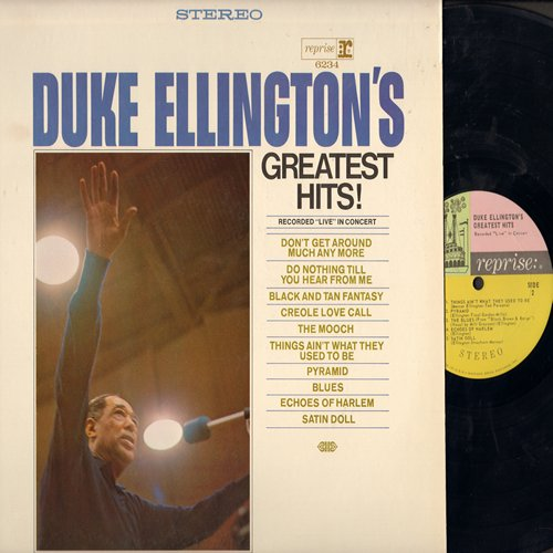 Ellington, Duke - Duke Ellington's Greatest Hits: Don't Get Around Much Anymore, Satin Doll, The Mooch, Pyrramids (Vinyl STEREO LP record) - NM9/NM9 - LP Records