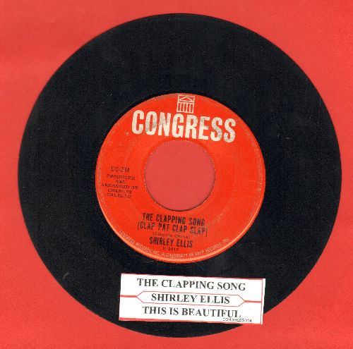 Ellis, Shirley - The Clapping Song (Clap Pat Clap Slap)/This Is Beautiful (with juke box label) - VG7/ - 45 rpm Records