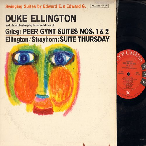 Ellington, Duke - Duke Ellington & His Orchestra play interpretations of Grieg: Peer Gynt Suites Nos. 1 & 2, Ellington/Strayhorn: Suite Thursday (Vinyl MONO LP record) - EX8/VG7 - LP Records