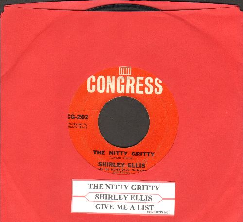 Ellis, Shirley - The Nitty Gritty/Give Me A List (with juke box label) - VG7/ - 45 rpm Records