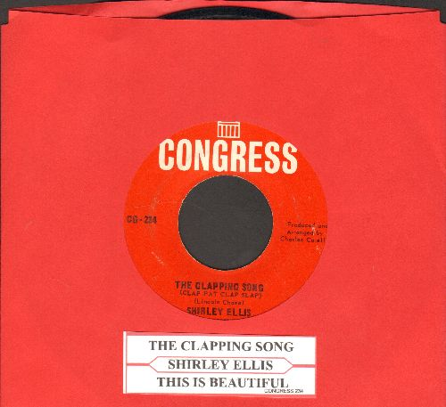 Ellis, Shirley - The Clapping Song (Clap Pat Clap Slap)/This Is Beautiful (with juke box label) - EX8/ - 45 rpm Records