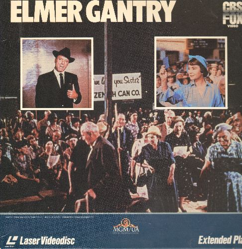 Elmer Gantry - Elmer Gantry - LASERDISC version of the Classic 1960 Hollywood Classic starring Burt Lanchaster, Jeanne Simmons and Oscar Winner Shirley Jones (This is a set of 2 LASERDISCS, NOT ANY OTHER KIND OF MEDIA!) - NM9/NM9 - LaserDiscs