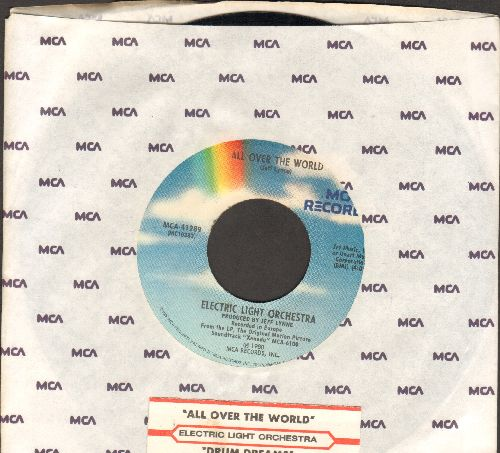 Electric Light Orchestra - All Over The World/Drum Dreams (with MCA company sleeve and juke box label) - NM9/ - 45 rpm Records