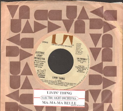 Electric Light Orchestra - Livin' Thing/Ma-Ma-Ma Belle (with juke box label and United Artists company sleeve) - EX8/ - 45 rpm Records