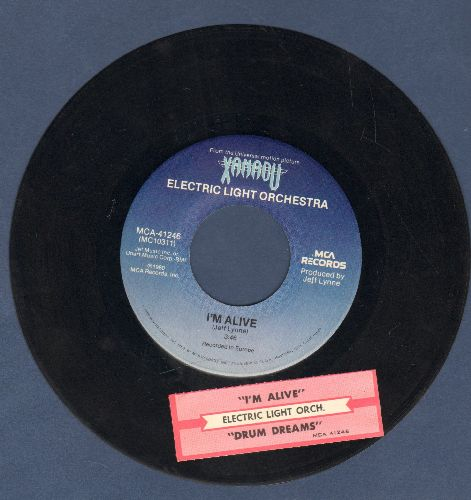 Electric Light Orchestra - I'm Alive/Drum Dreams (from film -Xanadu-) (with juke box label) - EX8/ - 45 rpm Records