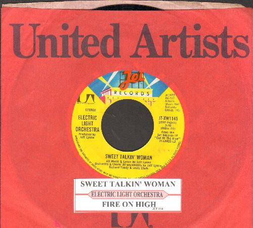 Electric Light Orchestra - Sweet Talkin' Woman/Fire On High (with juke box label and company sleeve) - NM9/ - 45 rpm Records