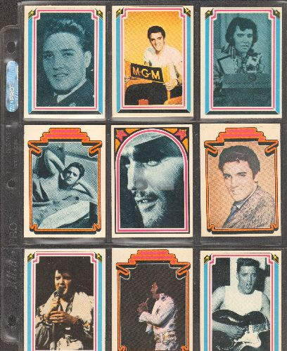Presley, Elvis - 9 Boxcar Enterprises Elvis Presley Trading Cards featuring