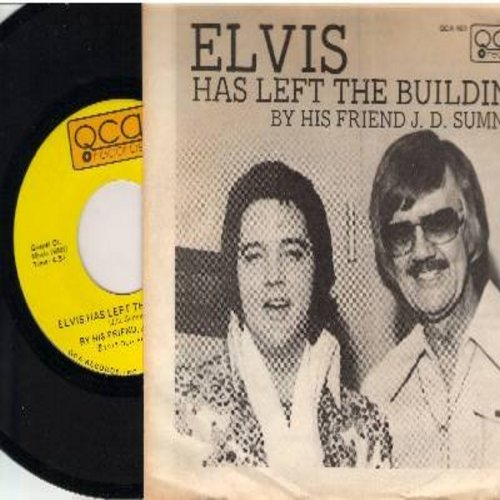 Sumner, J. D. - Elvis Has Left The Building/Sweet, Sweet Spirit (with picture sleeve) - M10/EX8 - 45 rpm Records