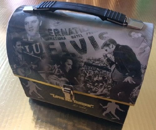 Presley, Elvis - Collectible Lunch Box featuring various Elvis Presley's images. Must select PRIORITY MAIL SHIPPING when your order includes this item! Postal regulations forbid Media Mail s/h! - EX8/ - Supplies