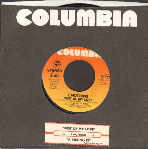 Emotions - Best Of My Love/A Feeling Is (with juke box label and Columbia company sleeve) - NM9/ - 45 rpm Records