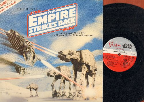 Empire Strikes Back, The - The Story Of Star Wars/The Empire Strikes Back - Dialogue and Music from the Original Motion Picture Soundtrack (vinyl LP record, NO bonus booklet!) - VG7/EX8 - LP Records