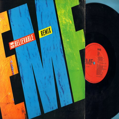 EMF - Unbelievable - 12 inch vinyl Maxi Single featuring 6 different Remix Tracks of the Dance Club Hit, with picture cover. - NM9/NM9 - Maxi Singles