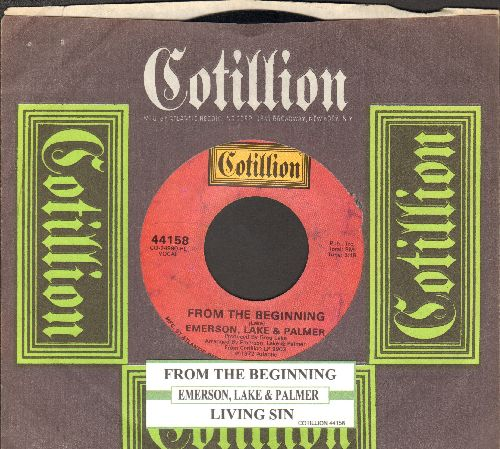 Emerson, Lake & Parker - From The Beginning/Living Sin (with juke box label and rare Cotillion company sleeve) - NM9/ - 45 rpm Records