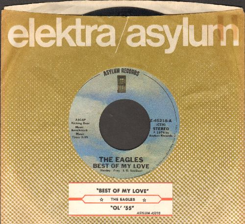 Eagles - Best Of My Love/Ol' '55 (with juke box label and company sleeve) - EX8/ - 45 rpm Records