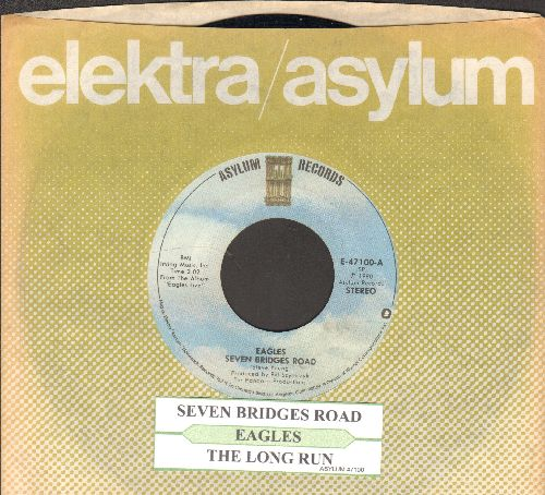 Eagles - Seven Bridges Road/The Long Run (with juke box label and company sleeve) - EX8/ - 45 rpm Records