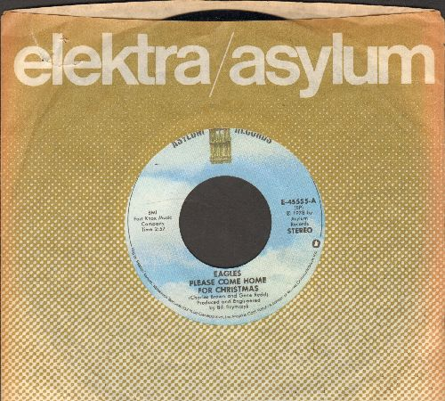 Eagles - Please Come Home For Christmas/Funky New Year (with company sleeve) - VG7/ - 45 rpm Records