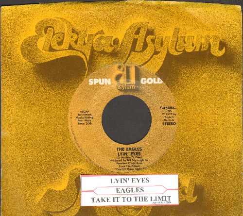 Eagles - Lyin' Eyes/Take It To The Limit (double-hit re-issue with juke box label and company sleeve) - NM9/ - 45 rpm Records