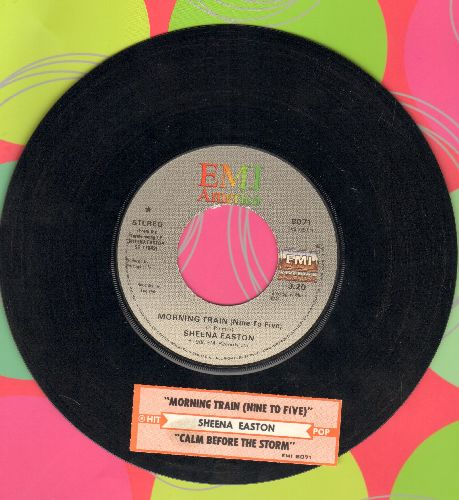 Easton, Sheena - Morning Train (Nine To Five)/Calm Before The Storm (with juke box label) - VG7/ - 45 rpm Records