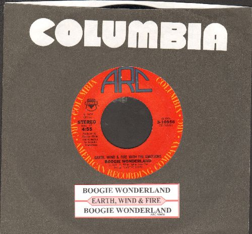 Earth, Wind & Fire - Boogie Wonderland/Boogie Wonderland (Instrumental) (with juke box label and Columbia company sleeve) - NM9/ - 45 rpm Records