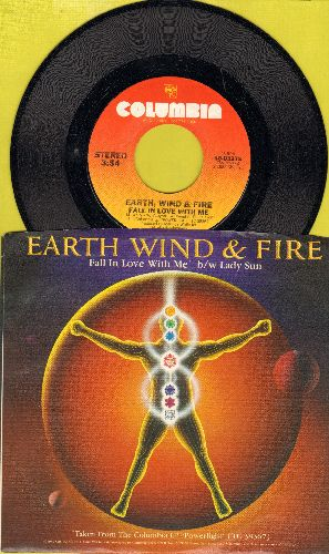 Earth, Wind & Fire - Fall In Love With Me/Lady Sun (with picture sleeve) - NM9/NM9 - 45 rpm Records