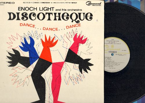 Light, Enough & His Orchestra - Discotheque - Dance…Dance…Dance: Dream Lover, C'Mon And Swim, I Want To Hold Your Hand, If I Had A Hammer (Vinyl STEREO LP record, gate-fold cover, with Dance Craze instruction picture pages!) - NM9/NM9 - LP Records