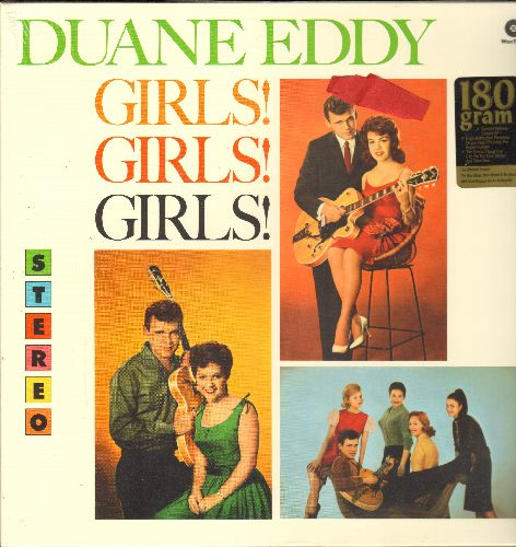 Eddy, Duane - Girls! Girls! Girls!: Tammy, Annette, Patricia, Mona Lisa, Connie, Carol, Brenda (Vinyl STEREO LP record, EU 180 gram Vintage Vinyl re-issue, SEALED, never opened!) - SEALED/SEALED - LP Records