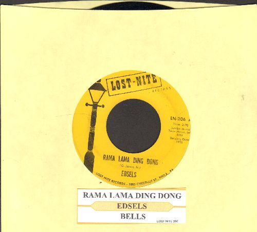 Edsels - Rama Lama Ding Dong/Bells (re-issue with juke box label) - EX8/ - 45 rpm Records