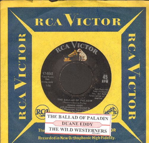 Eddy, Duane - The Ballad Of Paladin/The Wild Westerners (with RCA company sleeve) - EX8/ - 45 rpm Records