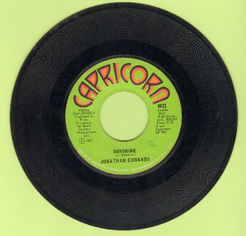 Edwards, Jonathan - Sunshine/Emma - EX8/ - 45 rpm Records