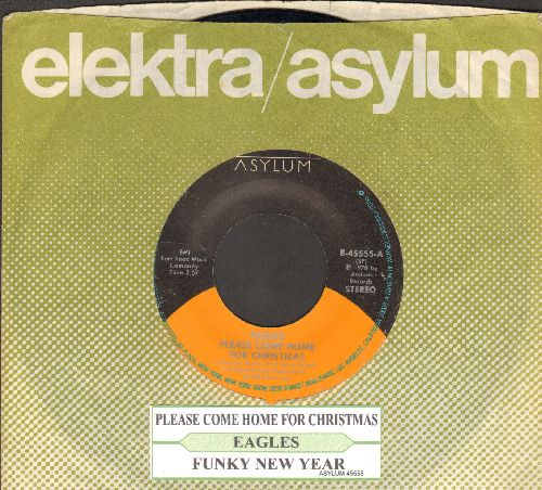 Eagles - Please Come Home For Christmas/Funky New Year (with juke box label and company sleeve) - EX8/ - 45 rpm Records