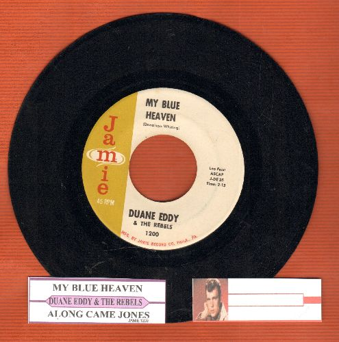 Eddy, Duane - My Blue Heaven/Along Came Linda (with juke box label) - EX8/ - 45 rpm Records