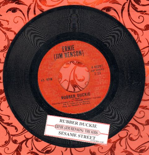 Ernie (Jim Henson) - Rubber Duckie/Sesame Street (with juke box label) - EX8/ - 45 rpm Records